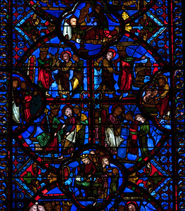 Bourges Cathedral, The Saint-Thomas Window, Thomas and the King in India
