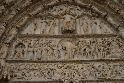 Bourges Cathedral West Facade Last Judgment
