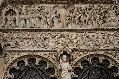 Bourges Cathedral, The West Facade Last Judgement