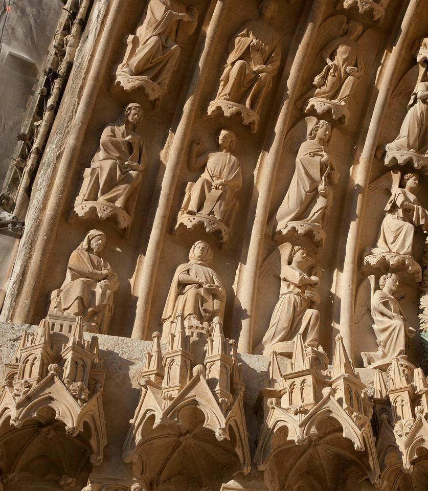 Bourges Cathedral West Facade Saint-Stephen Portal Archivolt