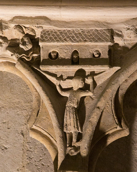 Bourges Cathedral West Facade Spandel Noah Building the Ark