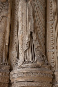 Bourges Cathedral South Porch Jamb Figure Gown