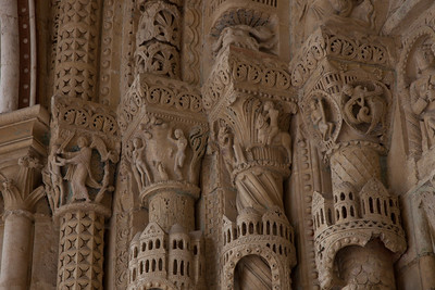 Bourges Cathedral South Porch Jamb Capitals