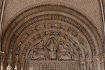 Bourges Cathedral - South Porch Portal Tympanum - Christ and The Symbols of the Evangelists