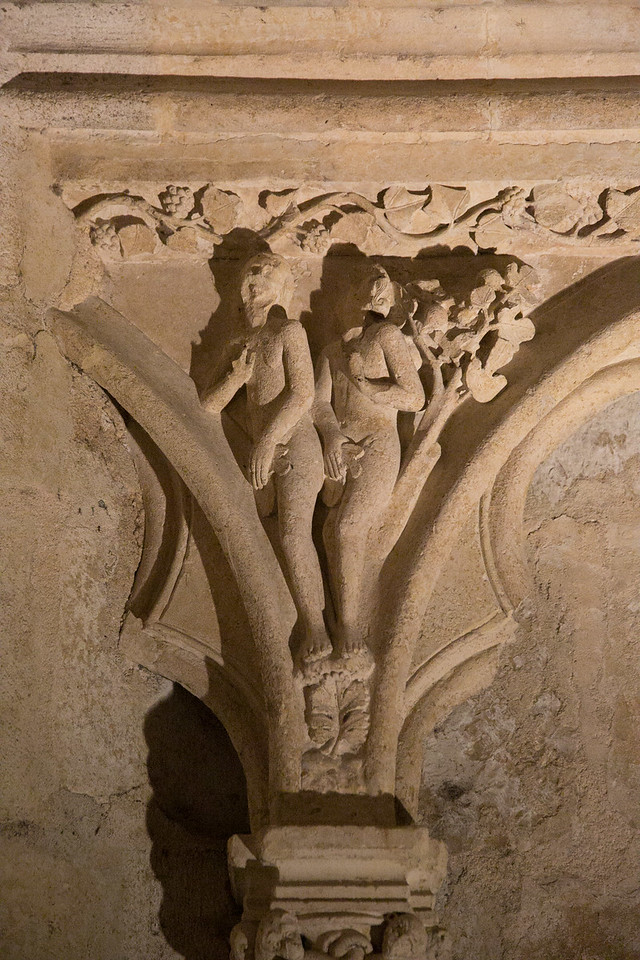 Bourges Cathedral West Facade Spandrel Adam and Eve