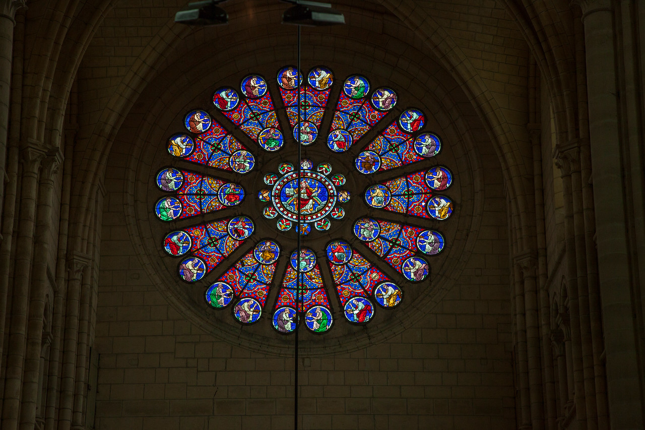 Braine, Saint-Yved Abbey Transept Rose Window