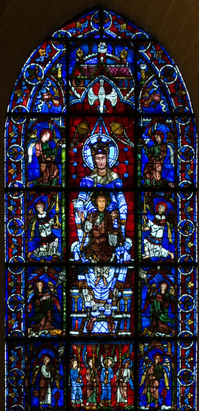 Chartres Cathedral Ambulatory - The Blue Virgin