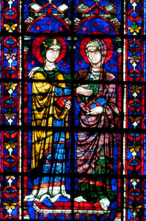 Chartres Cathedral Choir Clerestory Window, The Visitation