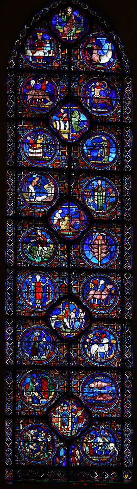 Chartres Cathedral Zodiac Window