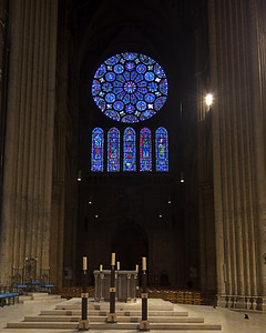 Chartres Cathedral, The Altar and South Rose Window