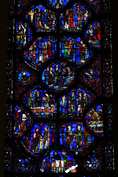 Chartres Cathedral Saint-Silvester Window