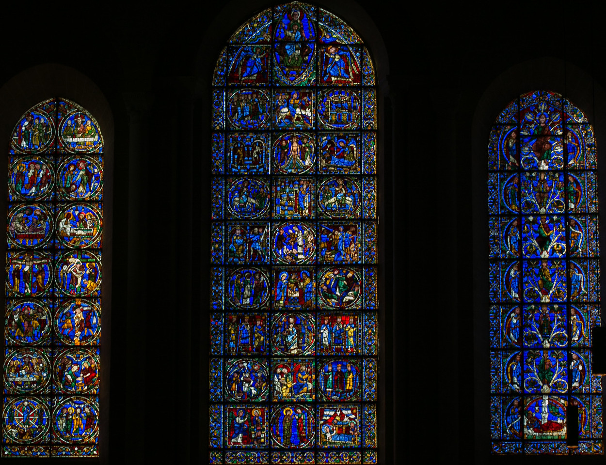 Chartres Cathedral West Facade Lancet Windows