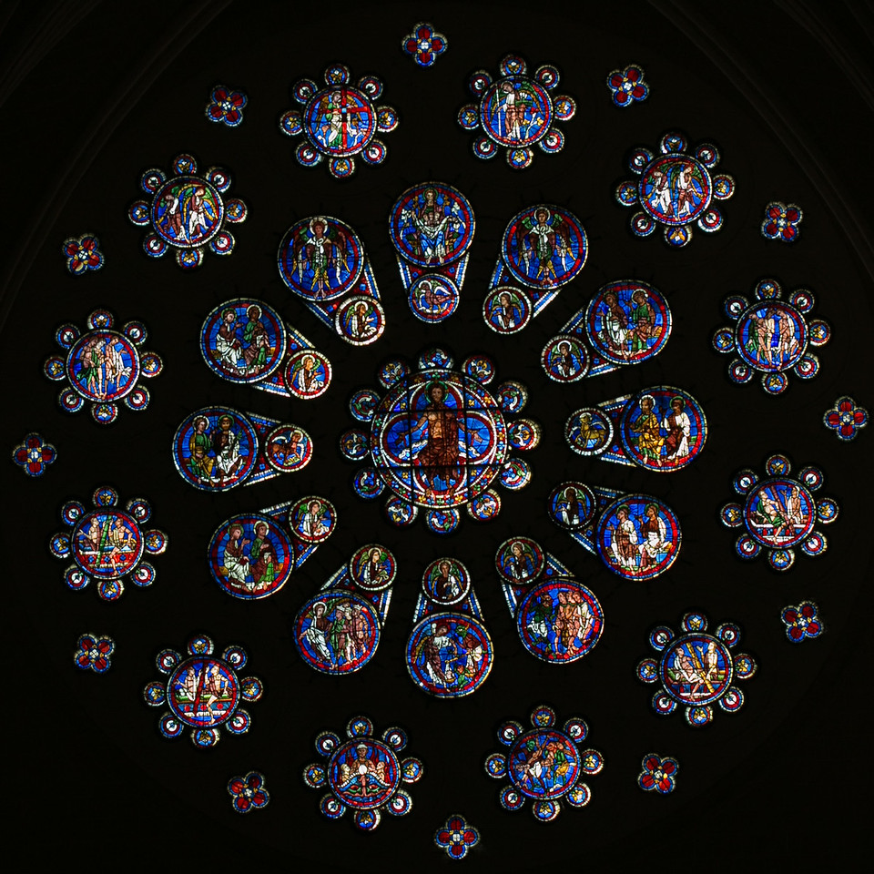 Chartres Cathedral West Facade Rose Window, The Last Judgment