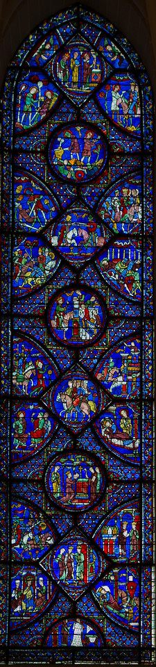 Chartrres Cathedral Charlemagne Window