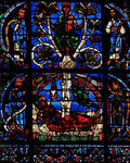 Chartres Cathedral - The West Facade Window - The Tree of Jesse - Jesse Sleeping