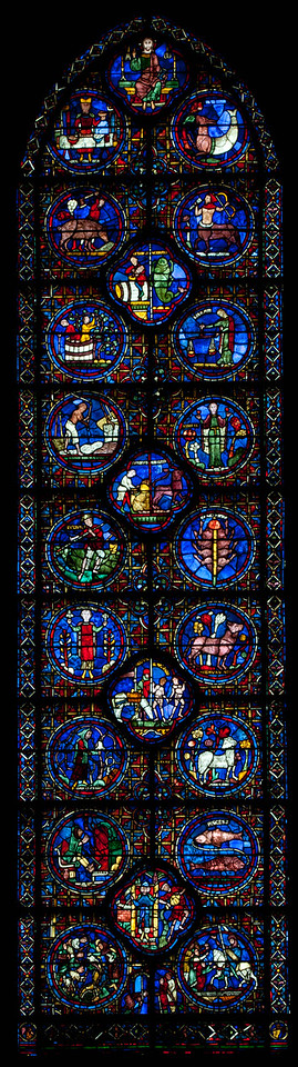 Chartres Cathedral, Signs of the Zodiac