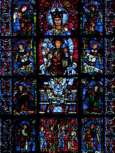 Chartres Cathedral - The Blue Virgin Window