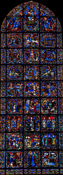Chartres Cathedral, The West Facade Window, The Life of Christ