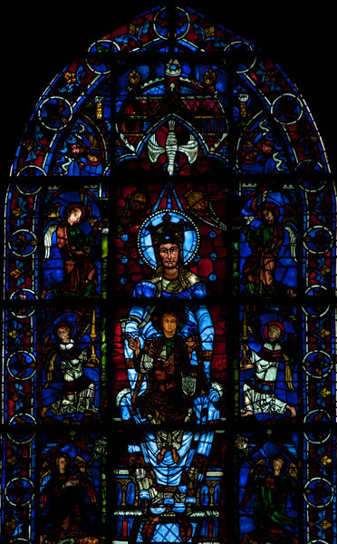 Chartres, Notre-Dame Cathedral, The Blue Virgin Window