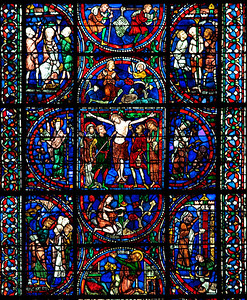 Chartres Cathedral Redemption Window, The Crucifixion