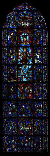 Chartres Cathedral, The Blue Virgin