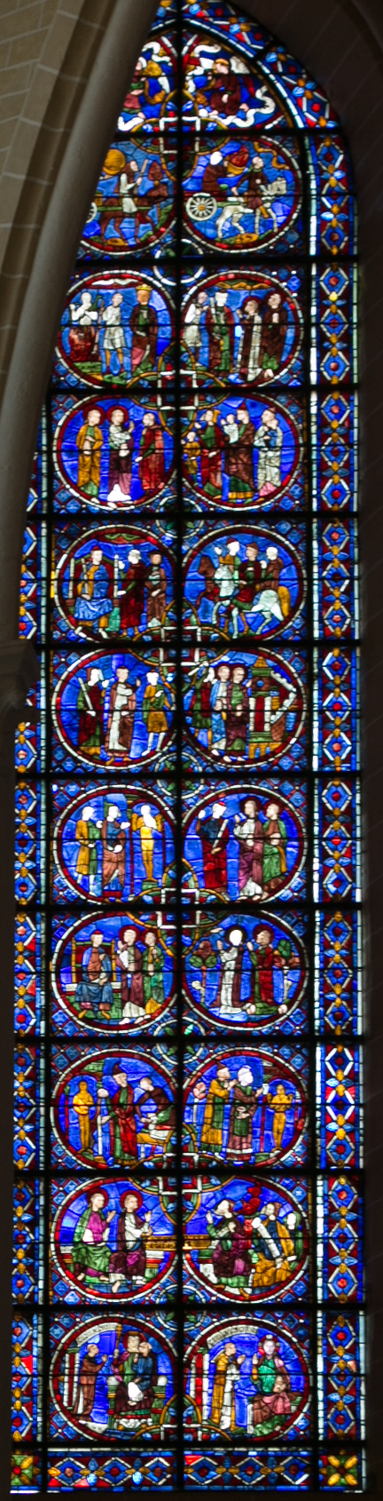 Chartres Cathedral, The  Lives of Saint Simeon and Saint Jude