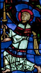 Chartres Cathedral - The Blue Virgin Window - Angel