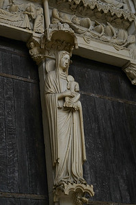 Chartres Cathedral North Porch Virgin and Child