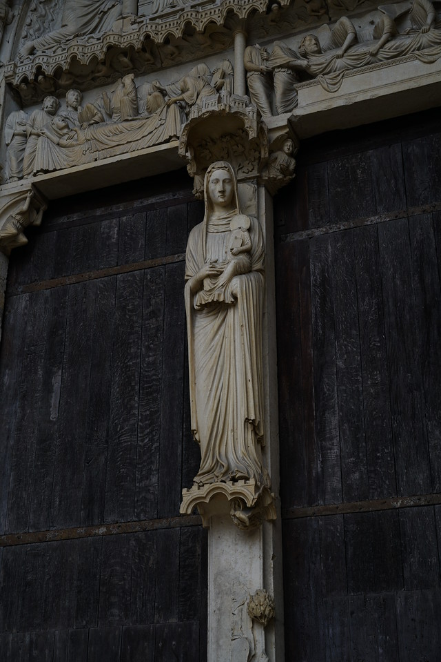 Chartres Catahedral North Porch Virgin and Child
