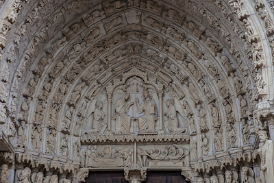Chartres Cathedral North Porch Central Tympanum, The Coronation of The Virgin