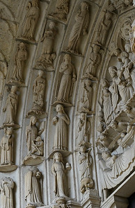Chartres Cathedral North Porch Archivolt Figures