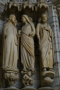 Chartres Cathedral North Porch, The Visitation