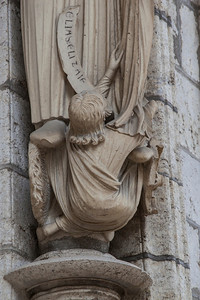 Chartres Cathedral North Porch Elijah Socle