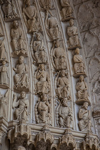 Chartres Cathedral North Porch Archivolt Figures