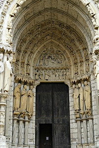 Chartres Cathedral North Porch, Job on the Dunghill