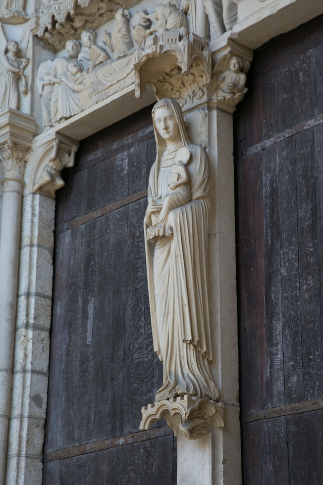 Chartres Cathedra North Porch Virgin and Child