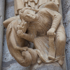 Chartres Cathedral North Porch Jamb Figure Socle
