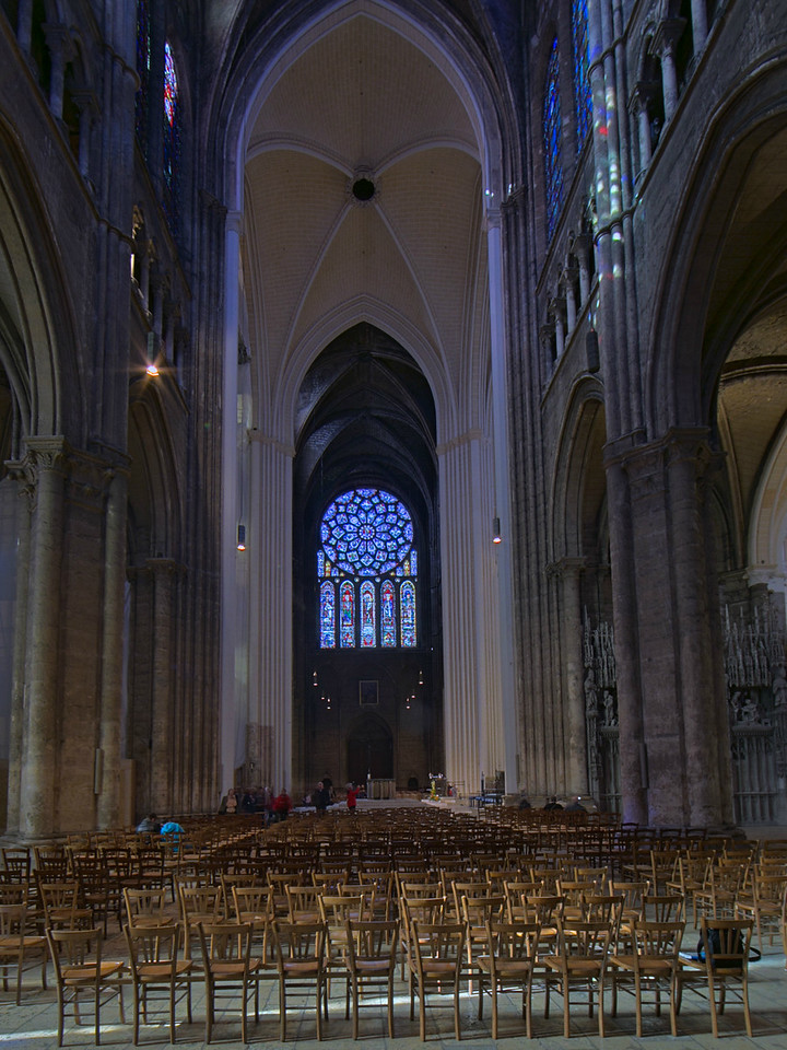 Chartres Cathedral Crossing and North Rose Window