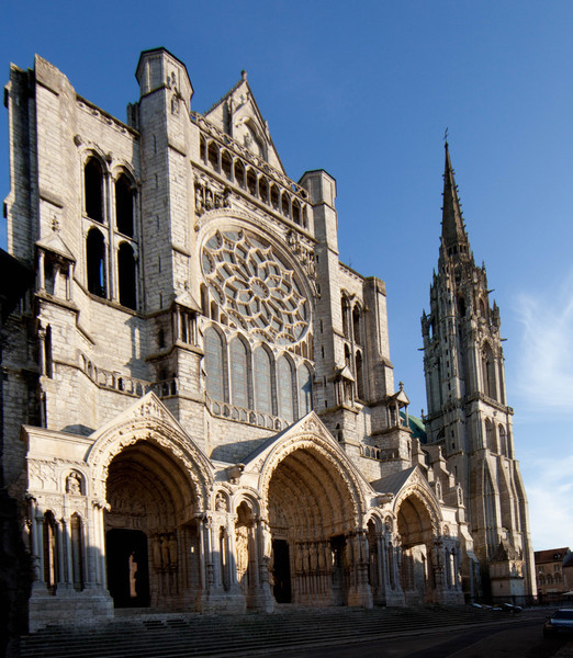 Chartres Cathedral North Facade and Tower