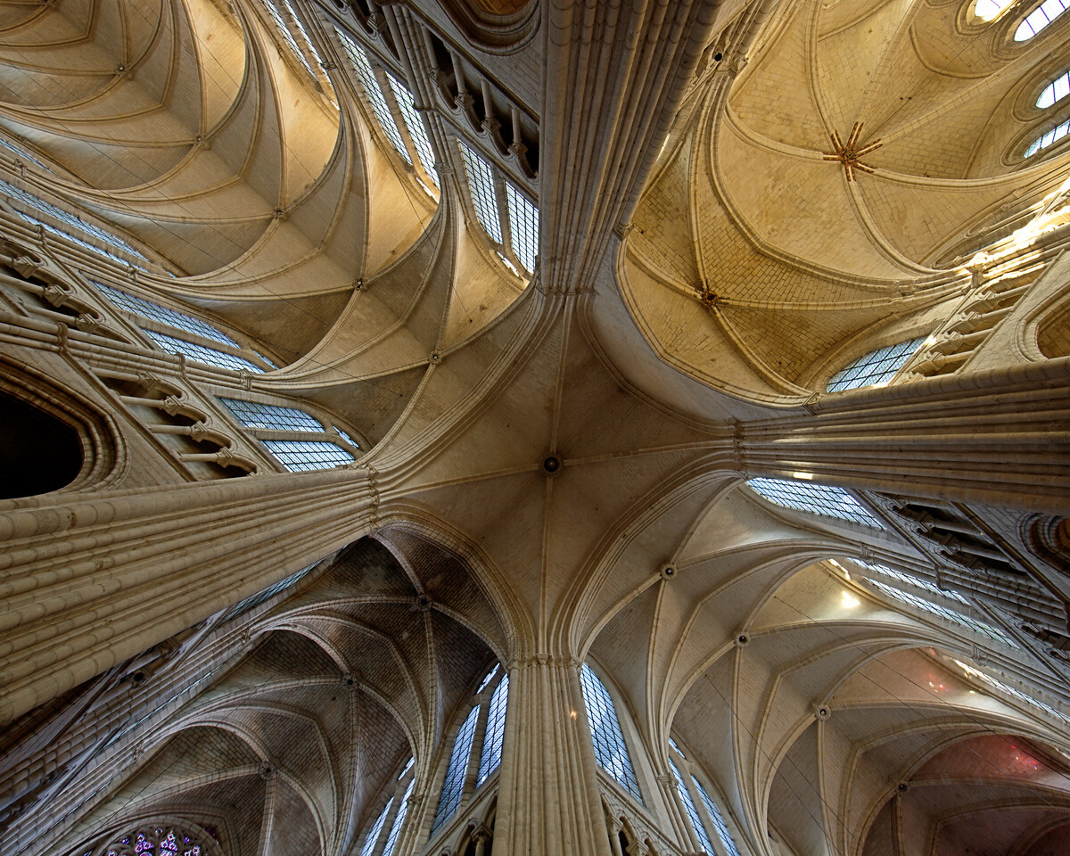 Soissons, Saint-Gervais andSaint-Protais Cathedral Crossing Vaults