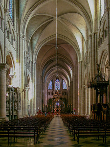 Sens, Saint Stephen Cathedral Nave and Choir
