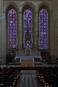 Laon Notre-Dame Cathedral Altar and Lancet Windows