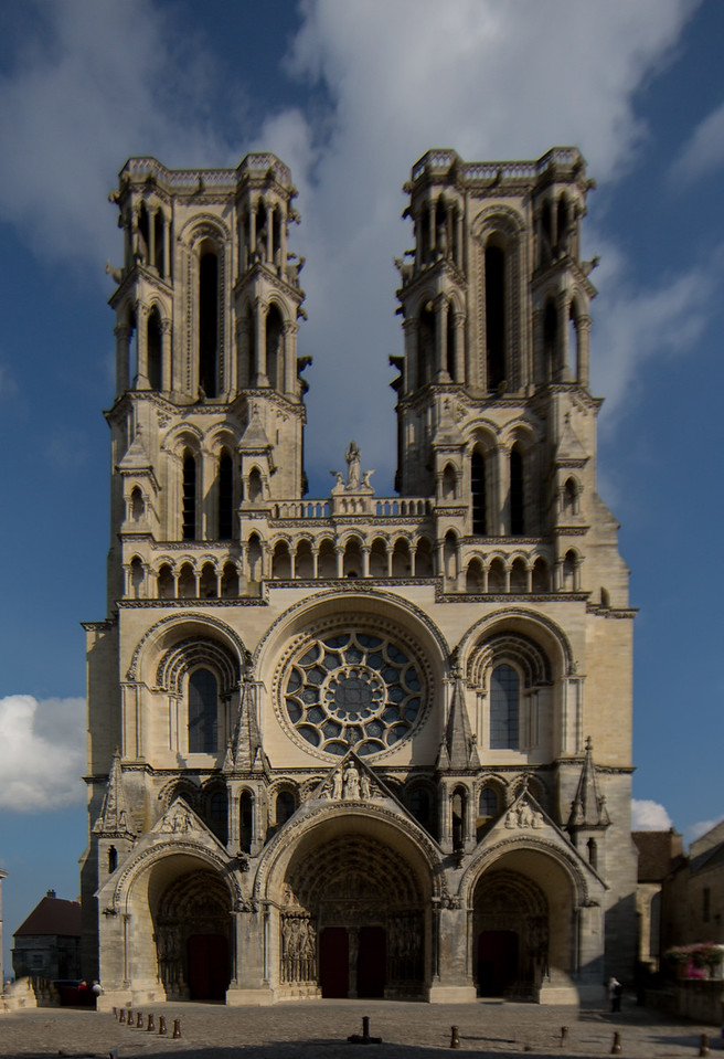 Laon Cathedral of Notre-Dame West Facade