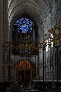 Laon Cathedral of Notre-Dame West Rose Window and Organ Loft