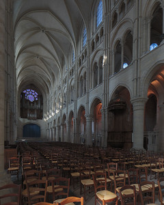 Laon Cathedral of Notre-Dame Nave Elevation and Rose Window