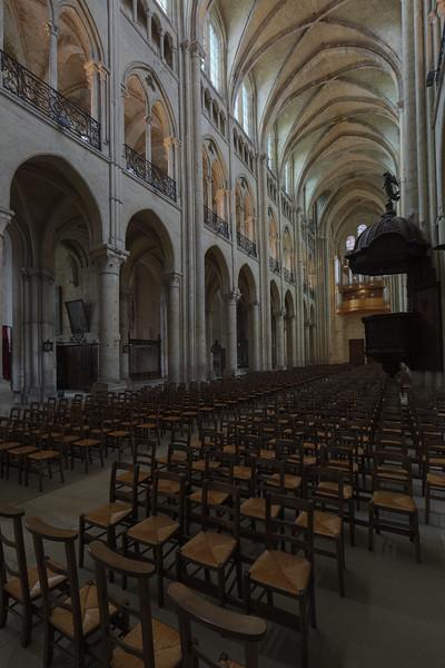 Noyon Cathedral Nave Elevation