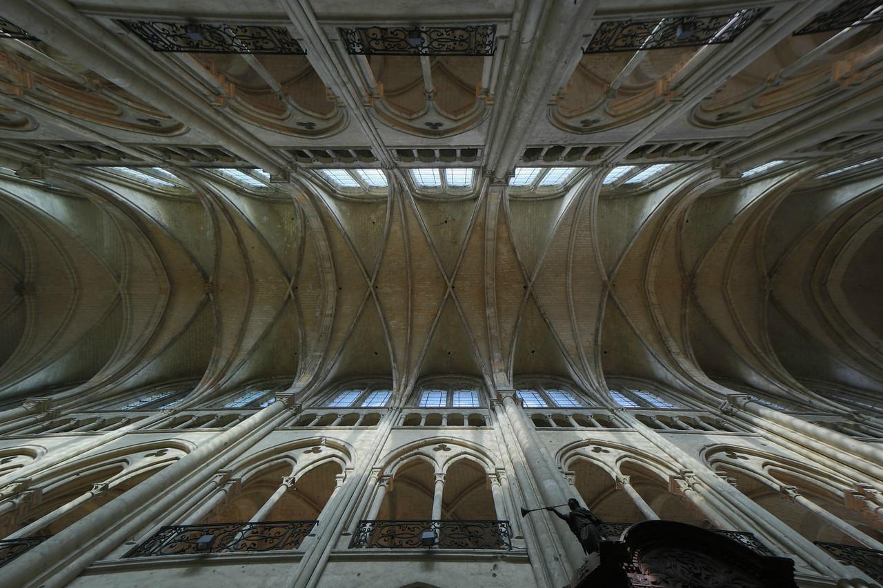 Noyon Cathedral Nave Vaults