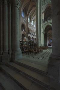 Noyon Cathedral Crossing and Choir Elevation