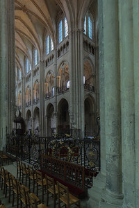 Noyon Cathedral Nave Elevation