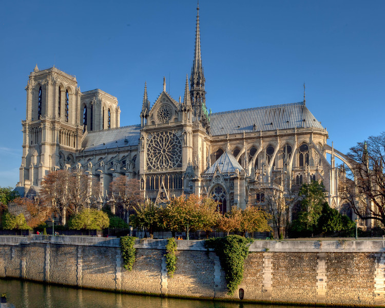 Paris, Notre-Dame Cathedral from the Left Bank